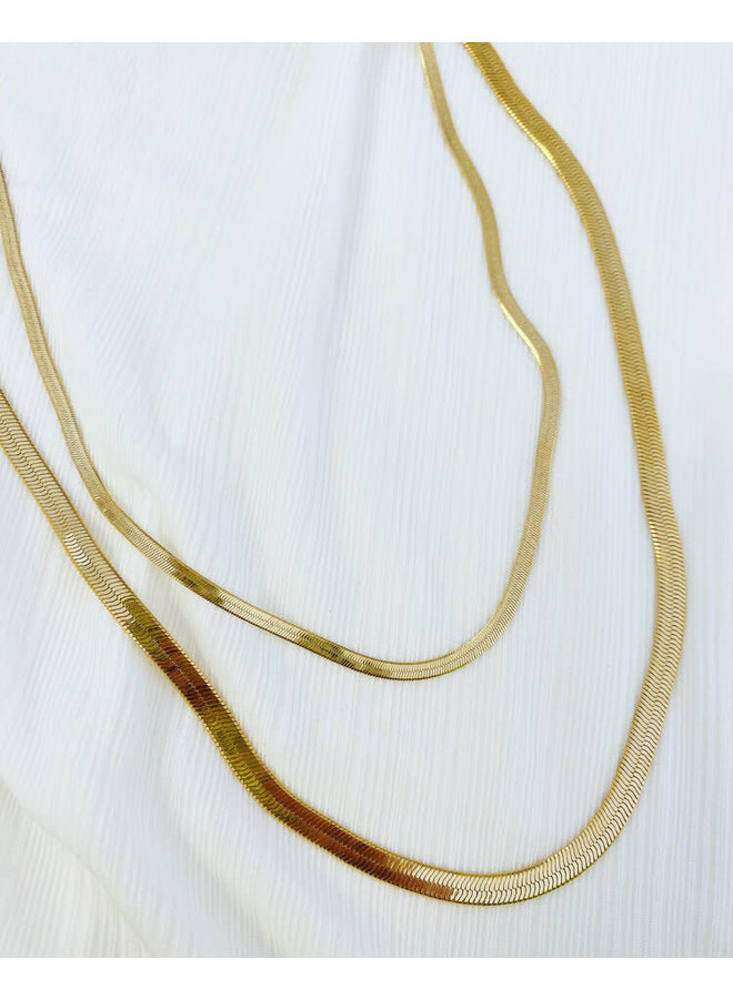 Snake Chain Necklace Thin