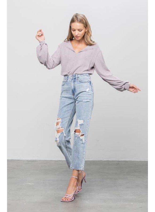 High-rise Girlfriend Jeans