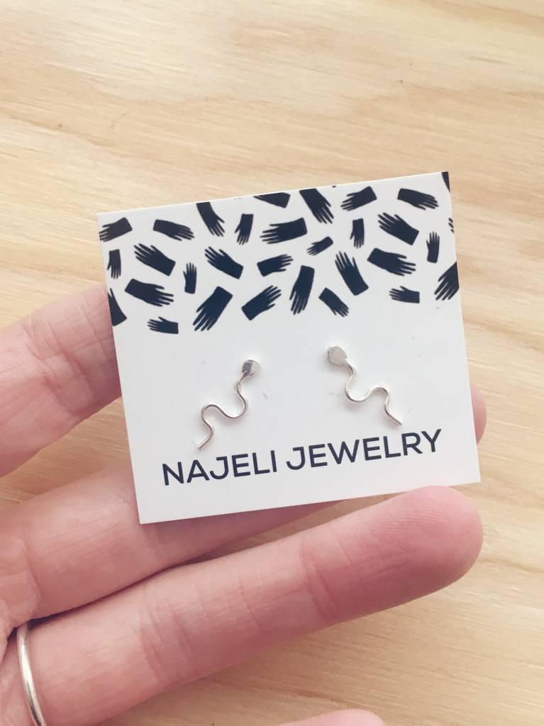 "Najeli Jewellery Boucles d'oreilles ""Sperm"""