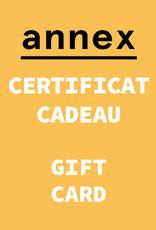 Annex Vintage Certificat Cadeau