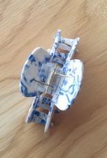 Machete Midi Claw Clip in Toile