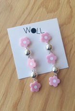 Woll Lilac Flower Bauble Earrings