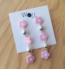 Woll Lilac Flower Bauble Earrings