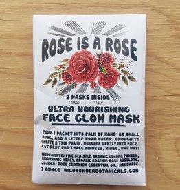 Wild Yonder Botanicals Rose Is A Rose Face Glow Mask