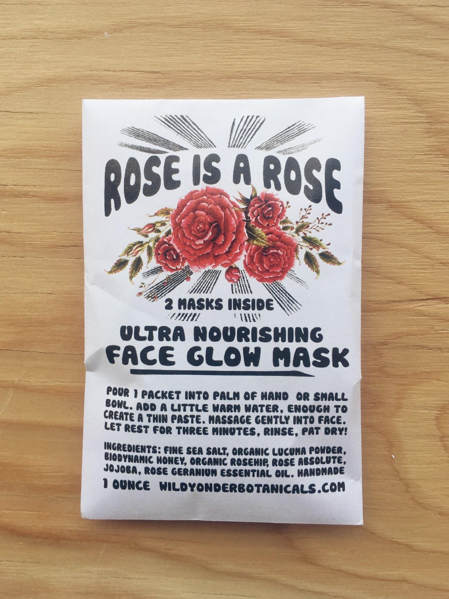 Wild Yonder Botanicals Face Glow Mask