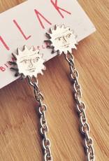 Bilak Jewellery Boucles d'oreilles soleil et chaîne