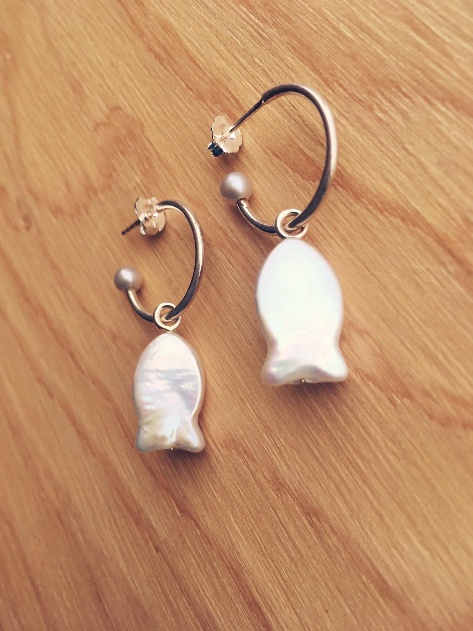 Nikki Nikki Fish Charm Earrings