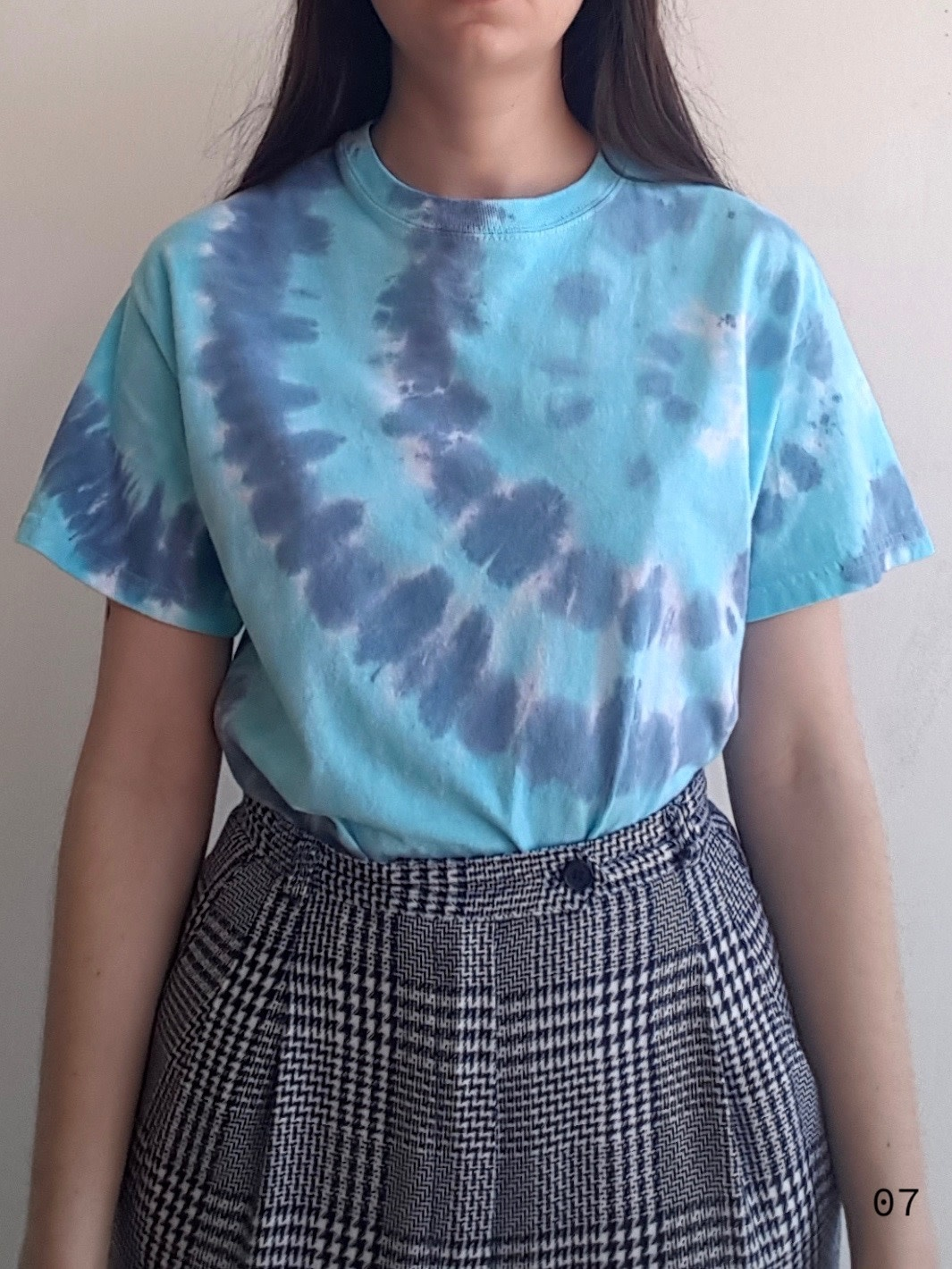 Annex Vintage Blue Tie Dye Tees