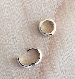 Machete Gold Plated Sterling Silver Huggie Hoops