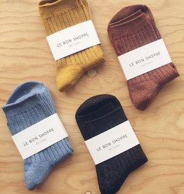 Le Bon Shoppe Chaussettes côtelées en lurex