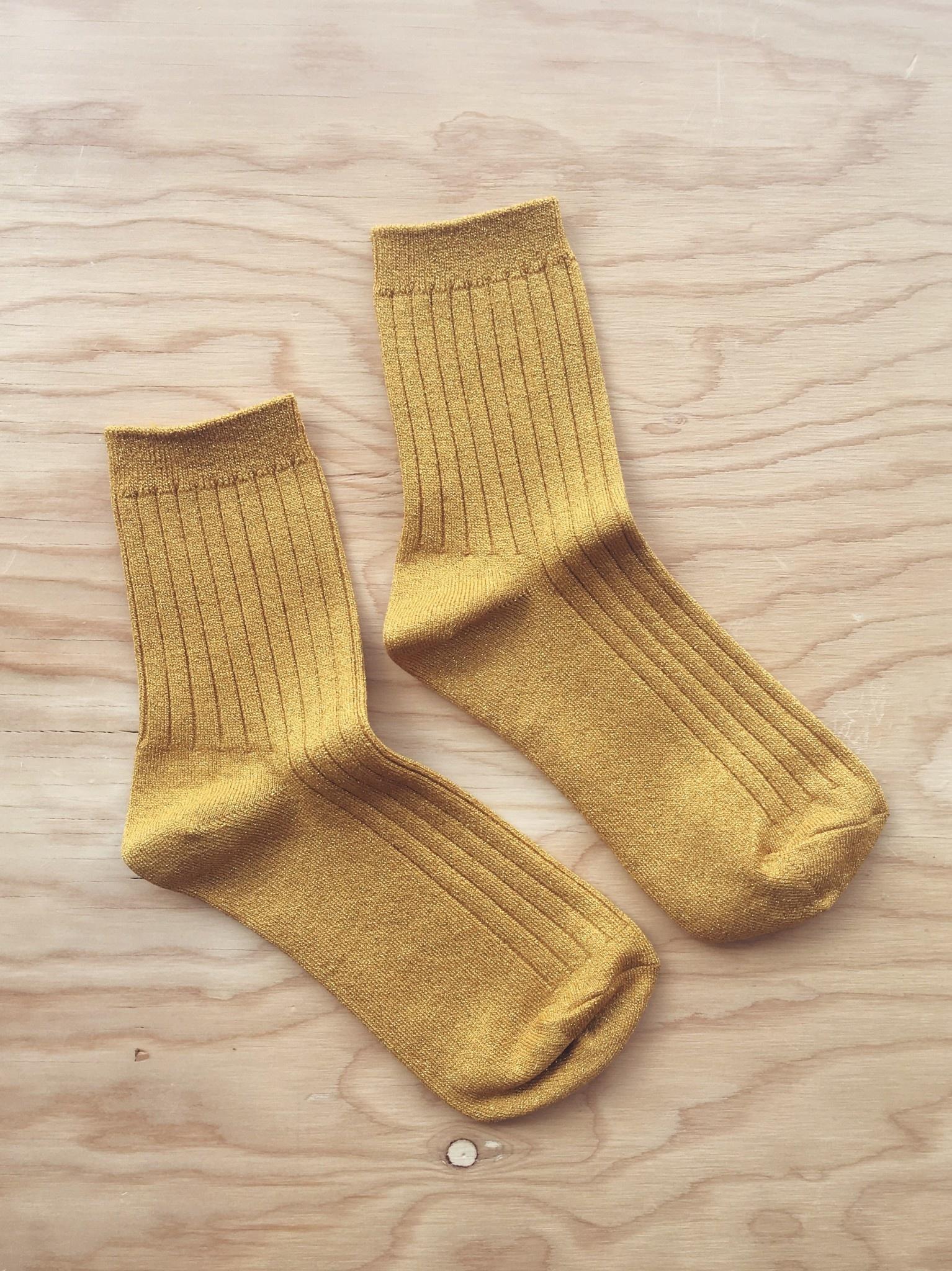 Le Bon Shoppe Ribbed Lurex Socks