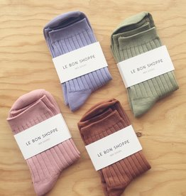 Le Bon Shoppe Solid Ribbed Socks