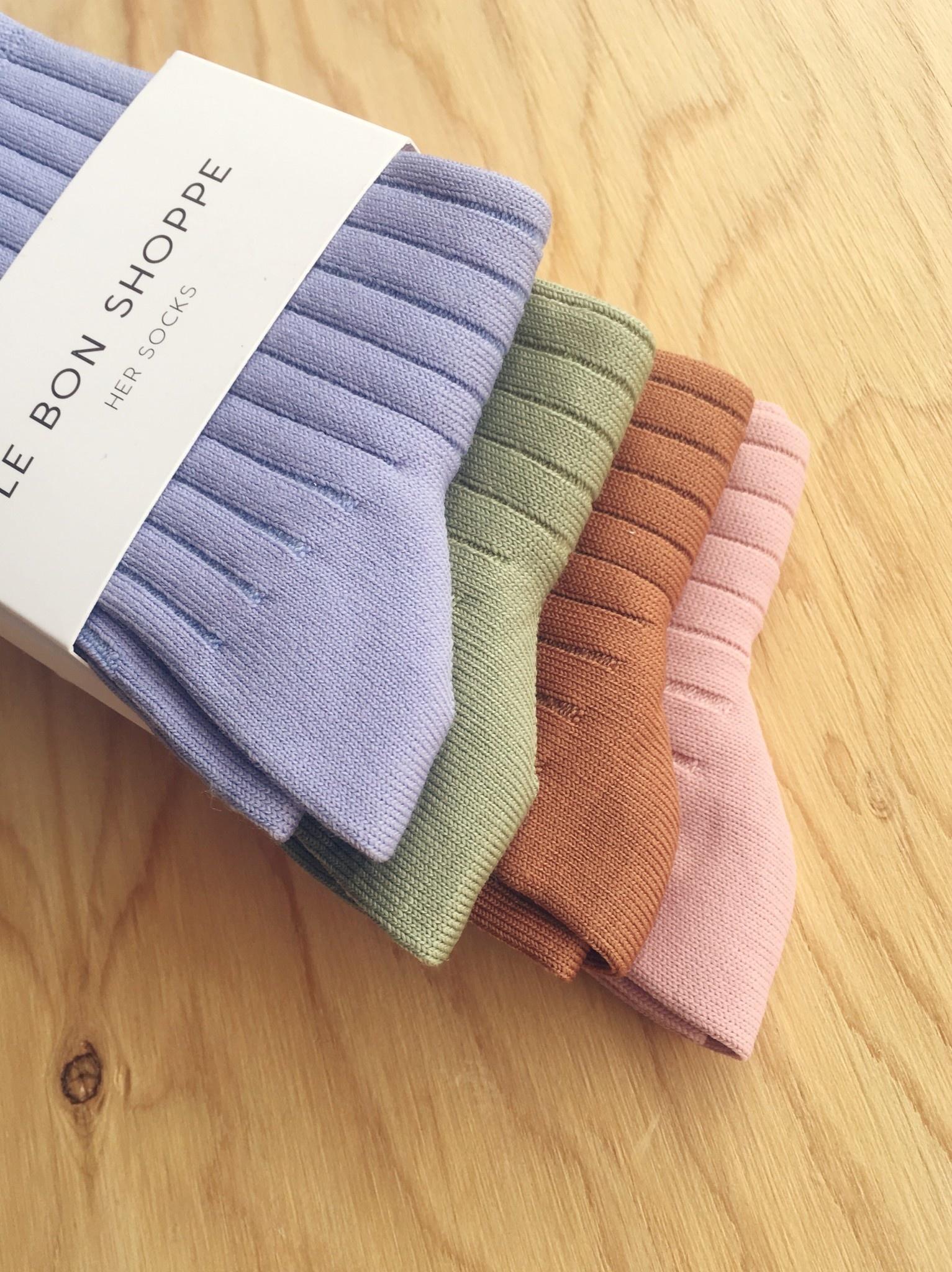 Le Bon Shoppe Chaussettes côtelées unies
