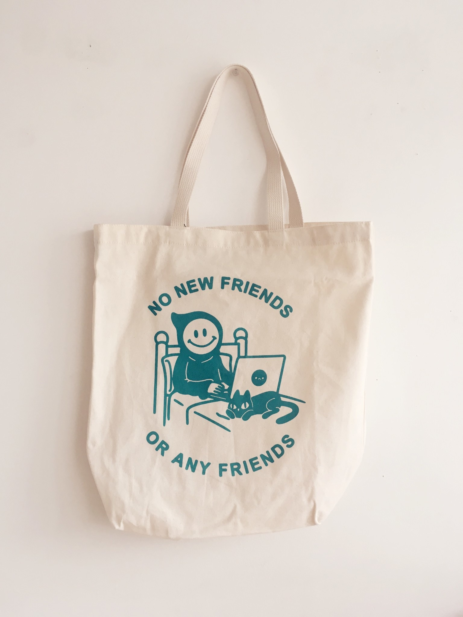 Stay Home Club No New Friends Tote bag