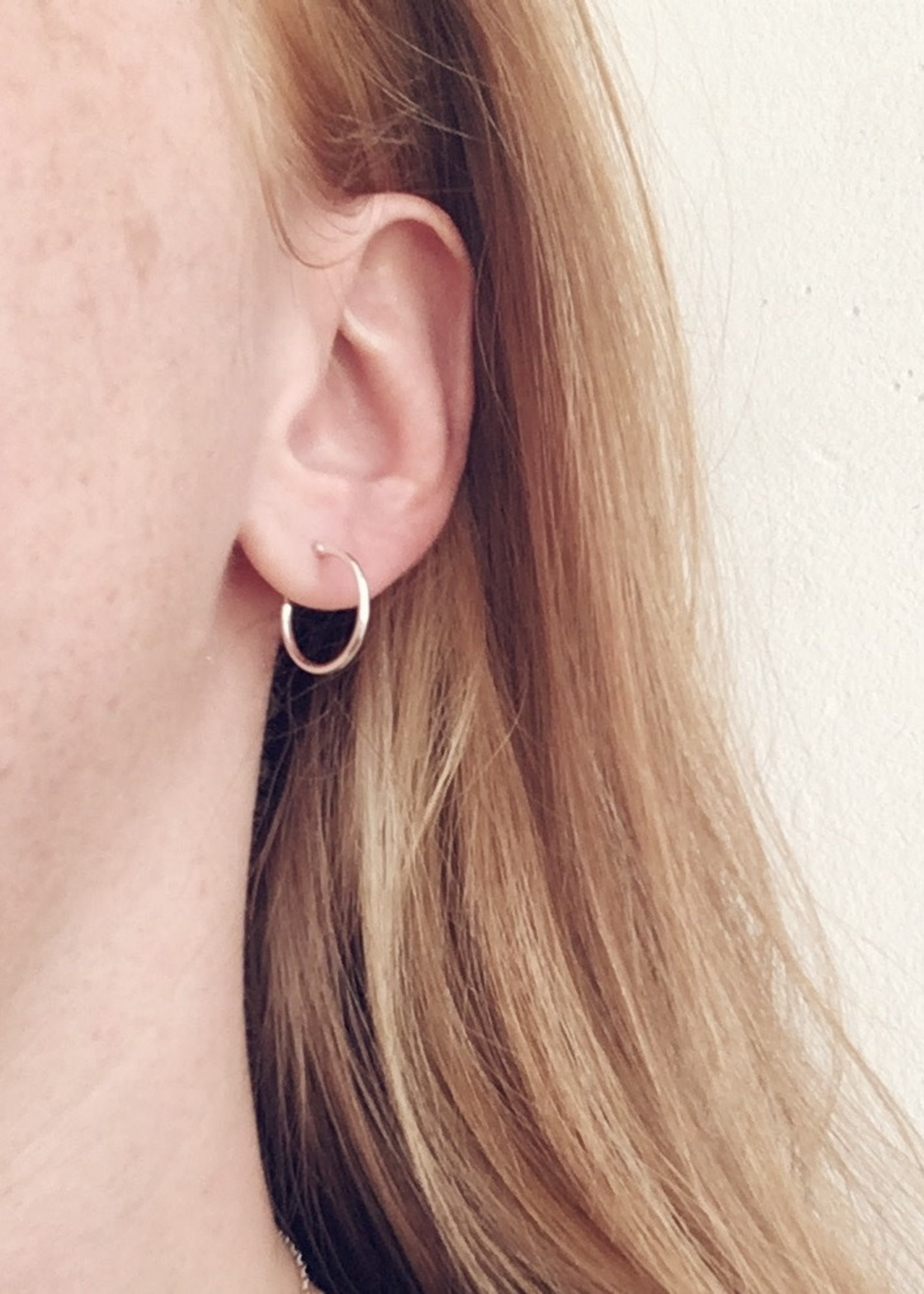 Mile End Jewelry Simple Sterling Hoops