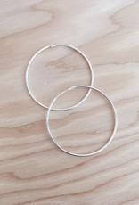 Mile End Jewelry Simple Sterling Hoops