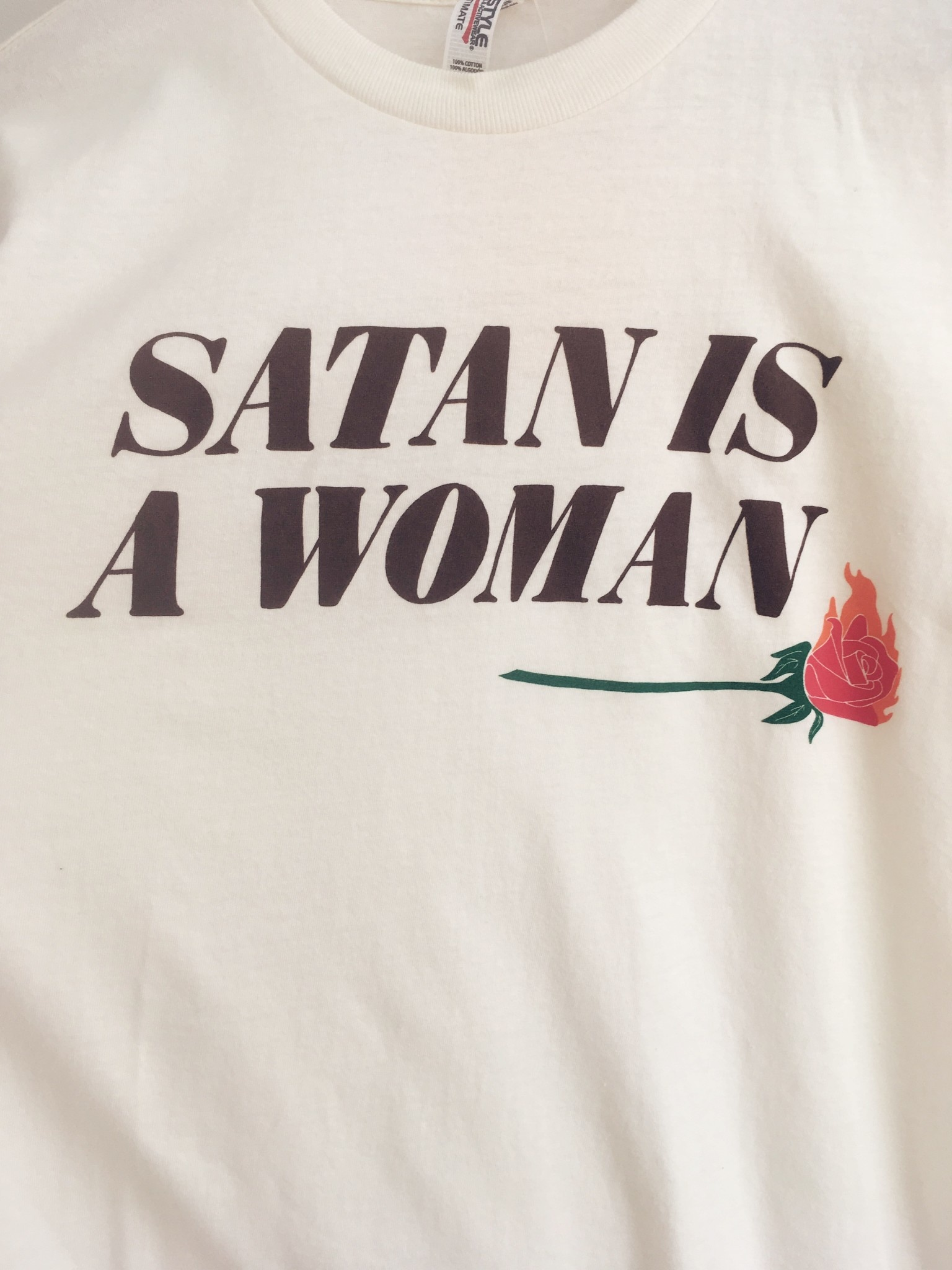 Rosehound Apparel Satan Is A Woman T-Shirt