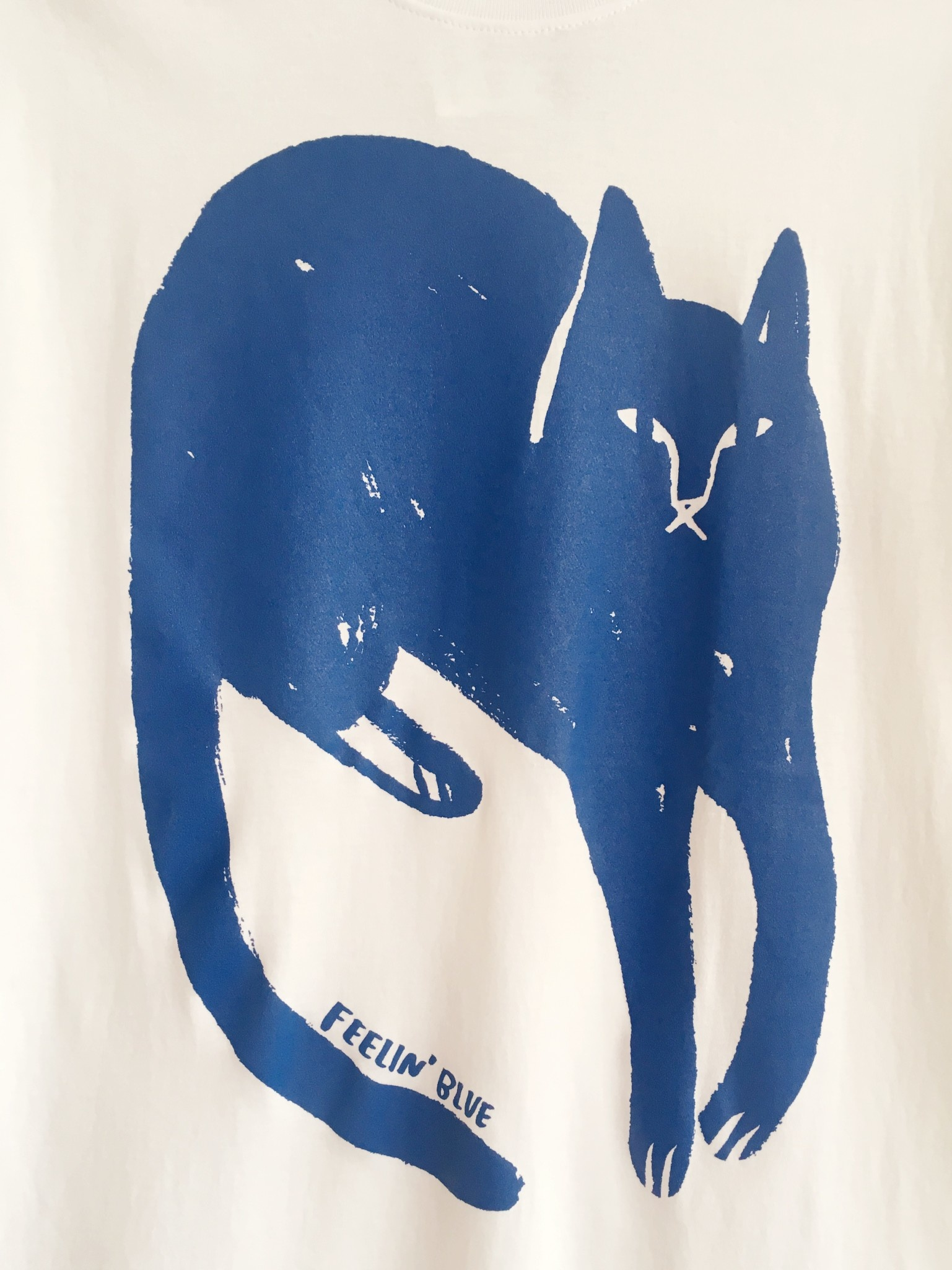 "Stay Home Club T-shirt ""Feelin' blue"""