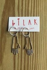 """Bilak Jewellery BILAK boucles d'oreilles """"1st Hand"""" argent"""