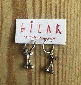 "Bilak Jewellery BILAK boucles d'oreilles ""Cherry Hoops"" argent"