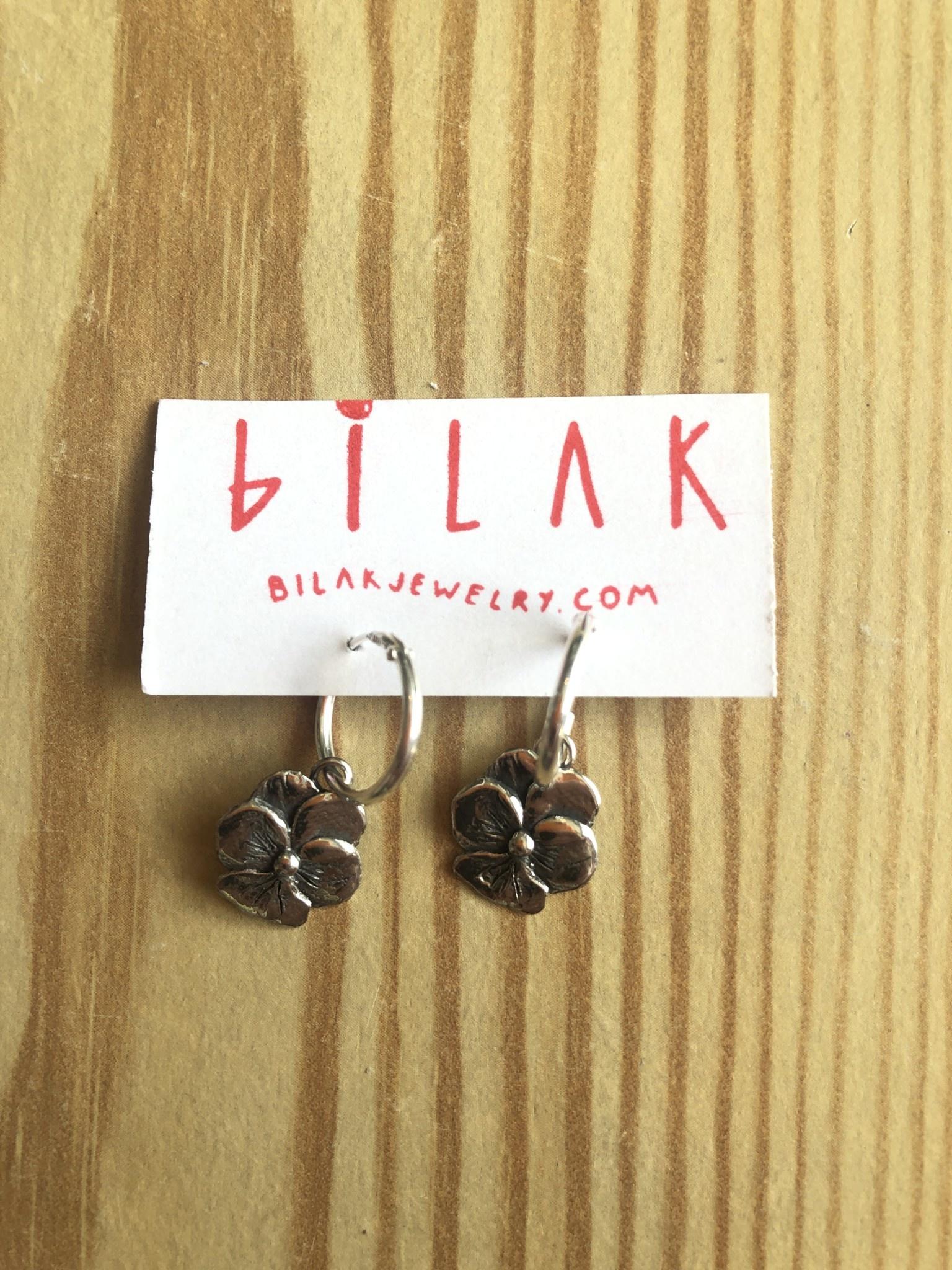 """Bilak Jewellery BILAK """"Pansy Hoops"""" Earrings"""