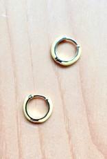 Machete Gold Plated Sterling Silver Huggie Hoops