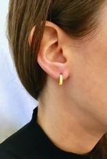 Machete Boucles d'oreilles en argent plaqué or 'huggie'