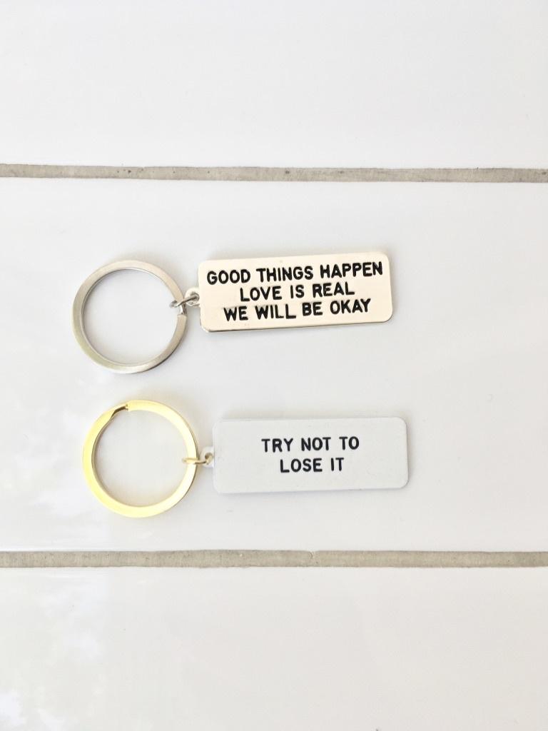 Adam J Kurtz Reminder Keychain