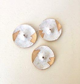 "Nightshift Ceramics Porte-encens blanc ""Circle"""