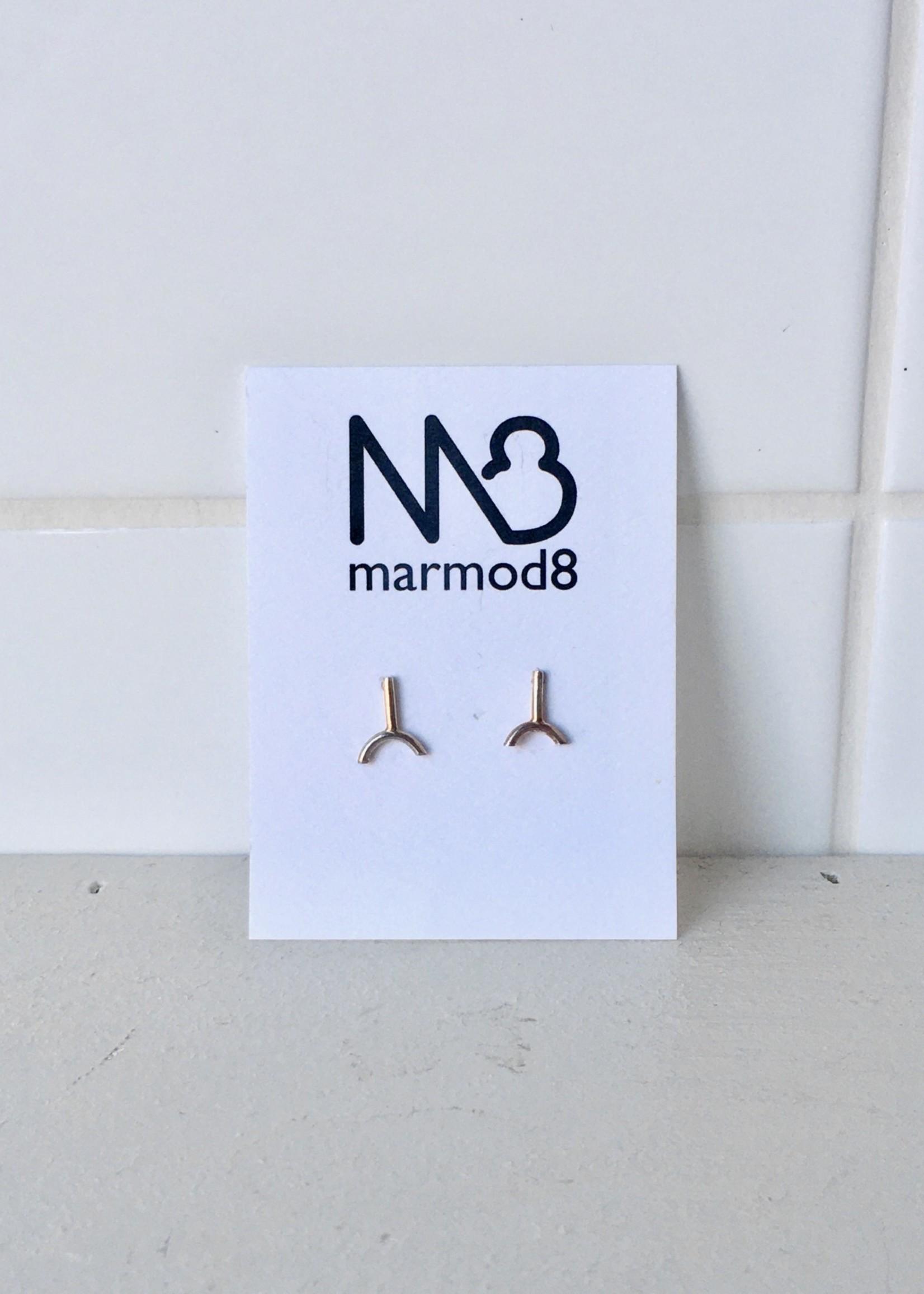 """Marmod8 Boucles d'Oreilles Argent """"YY"""""""