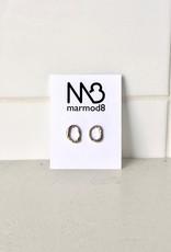 Marmod8 Silver Earrings Ghost