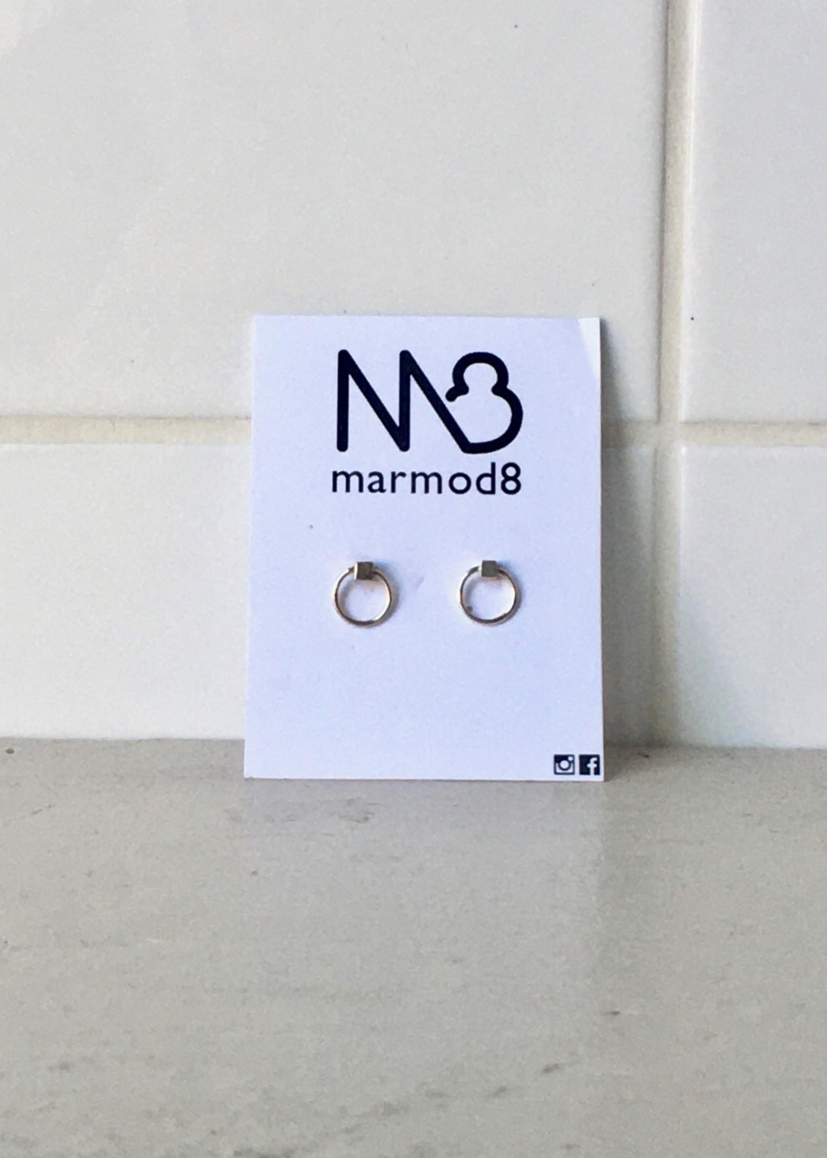 """Marmod8 Boucles d'Oreille Argent """"Cubes"""""""