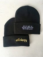 Stay Home Club Embroidered Beanie