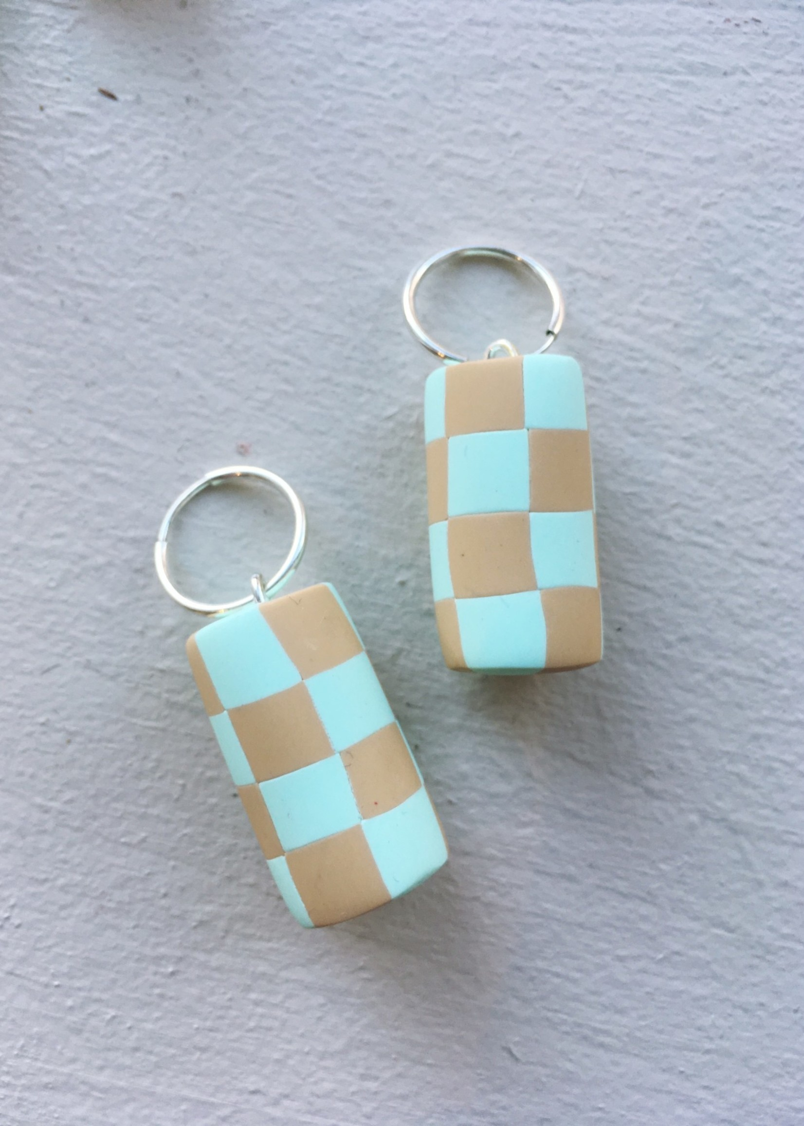 Earwack Checker Chunk Earrings