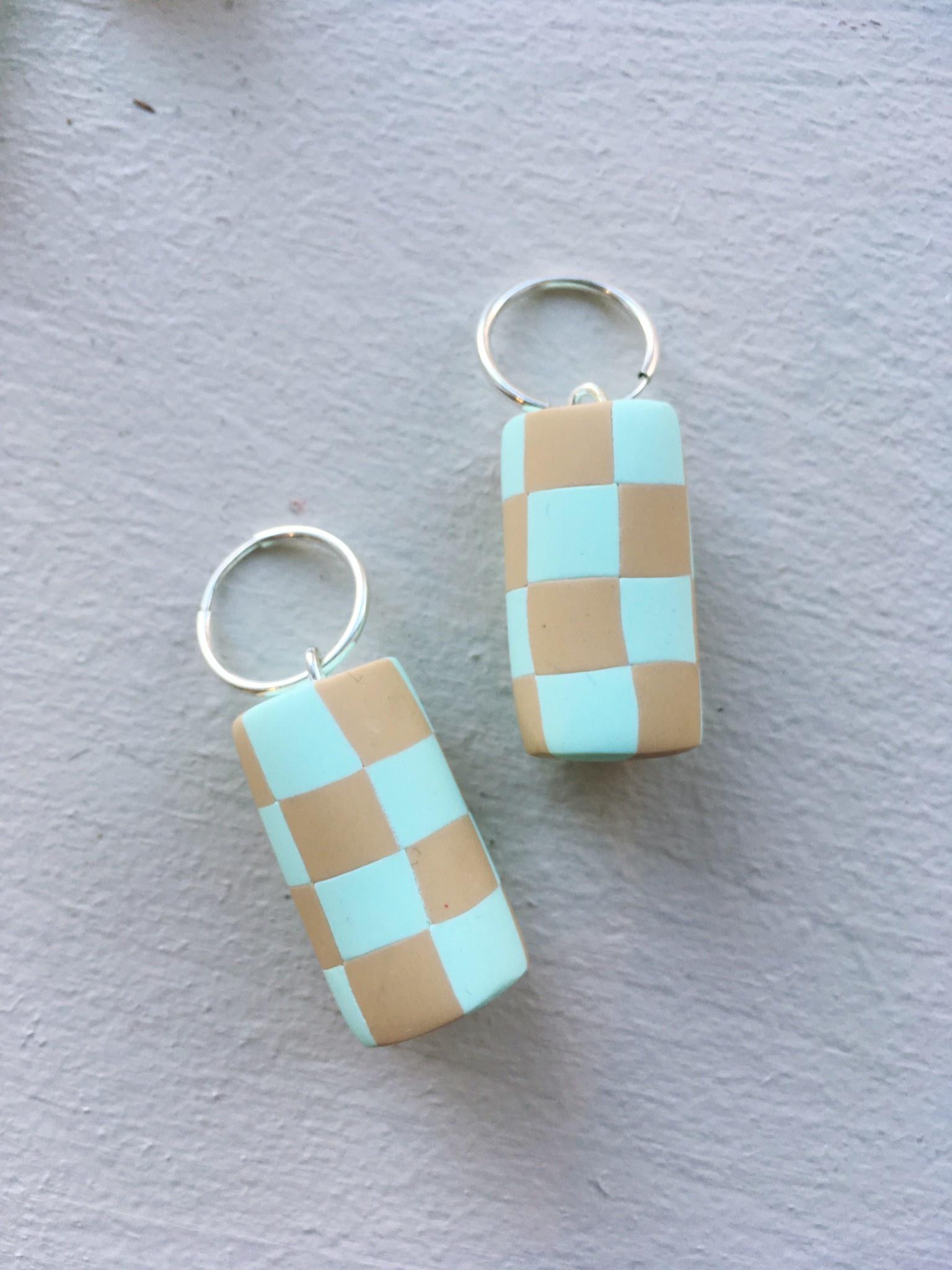 Earwack Boucles d'oreilles Checker Chunk