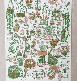 "People I've Loved Silkscreen Poster ""Plant Family"""
