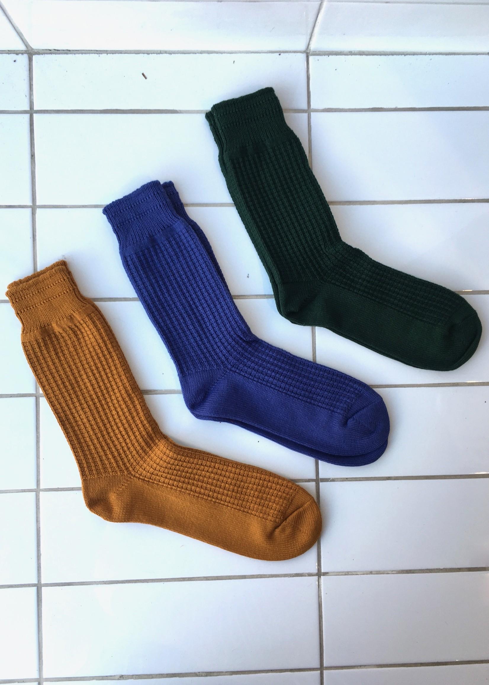 Rototo Cotton Waffle Socks