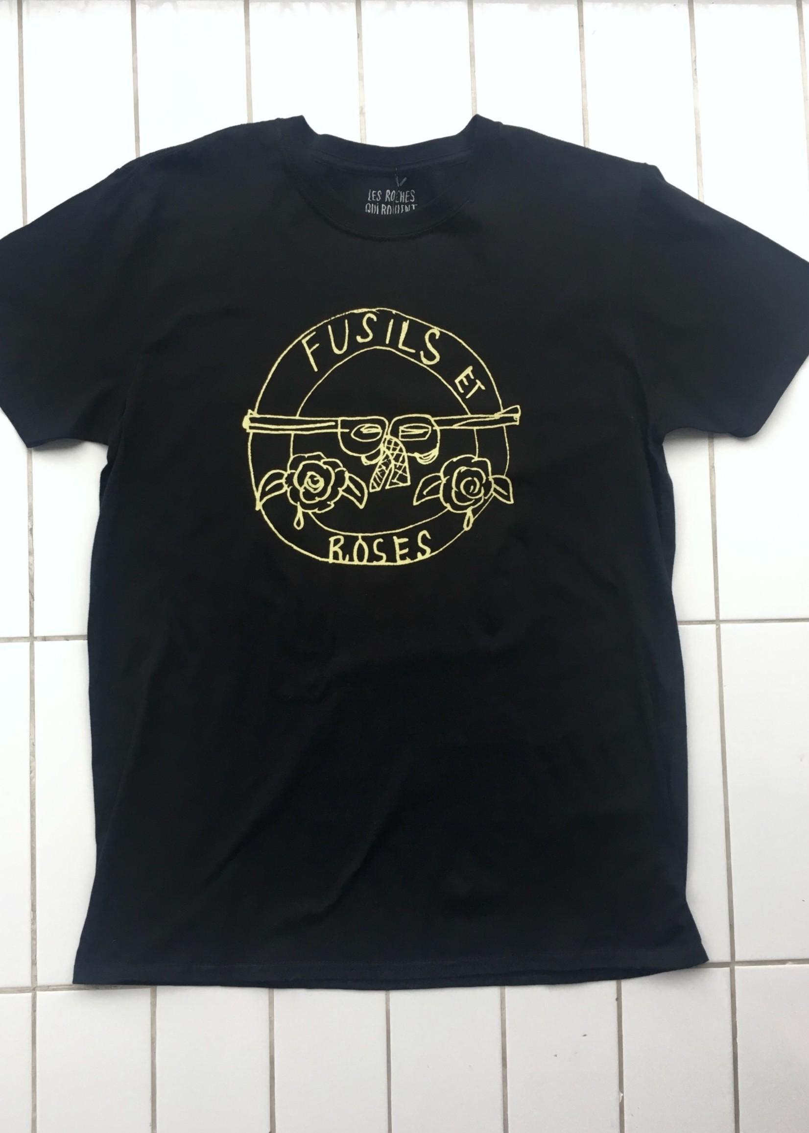 Les Roches Qui Roulent T-shirt Fusils Et Roses
