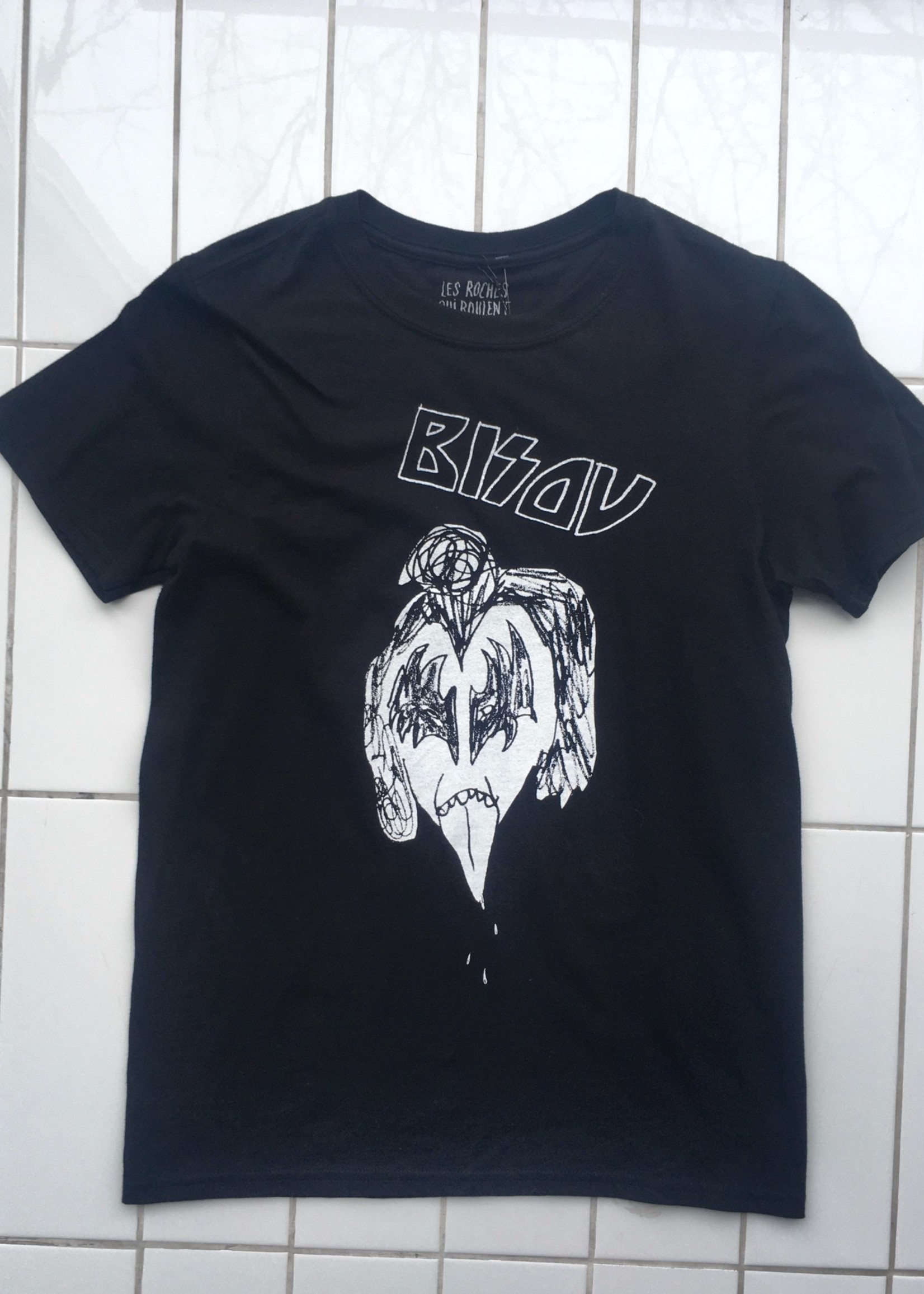 Les Roches Qui Roulent Bisou Noir T-shirt