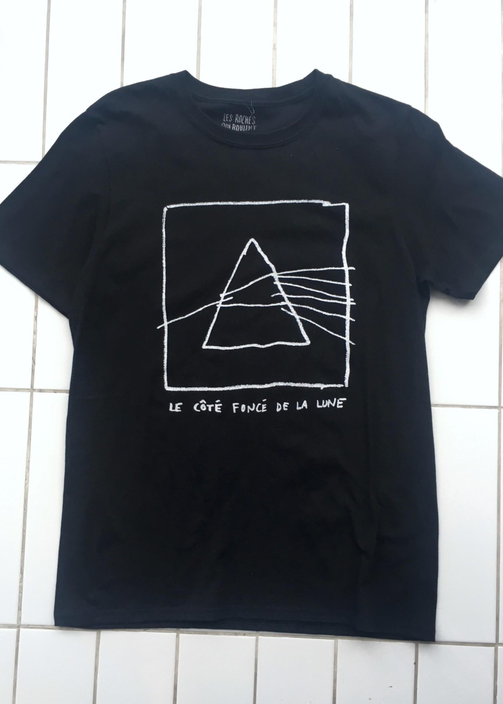 Les Roches Qui Roulent Le Côté Foncé de la Lune T-shirt