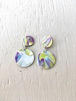 Emma Jewels Sunset Purple Double Circles Earrings