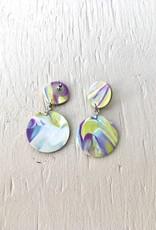 Emma Jewels Sunset Purple Double Circles