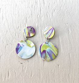 Emma Jewels Sunset Purple Double Circles