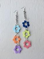 Emma Jewels Three Flower Chains XL Earrings