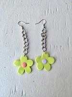 Emma Jewels Green Flowers On Chain Earrings