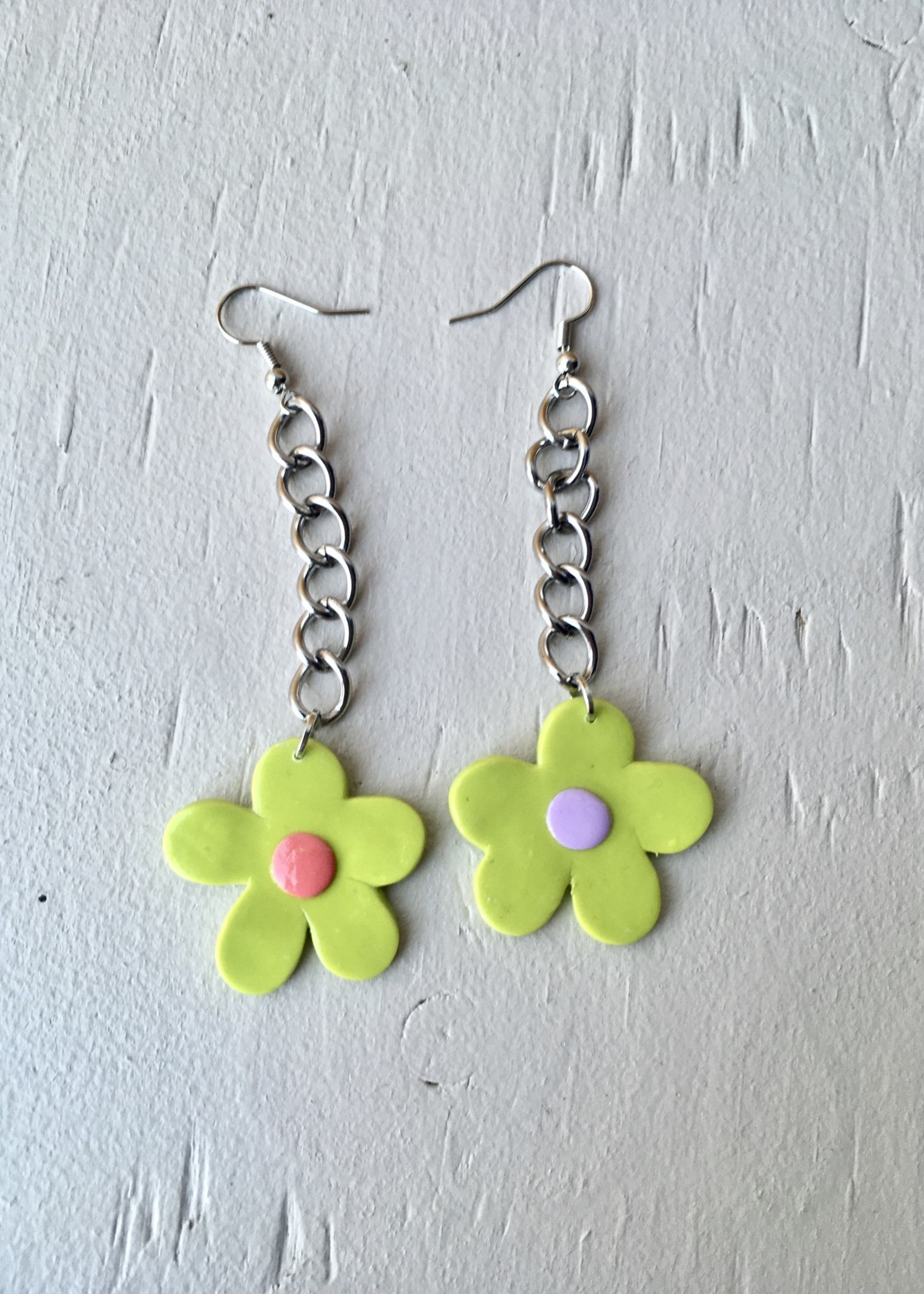 Emma Jewels Fleurs vertes sur chaîne