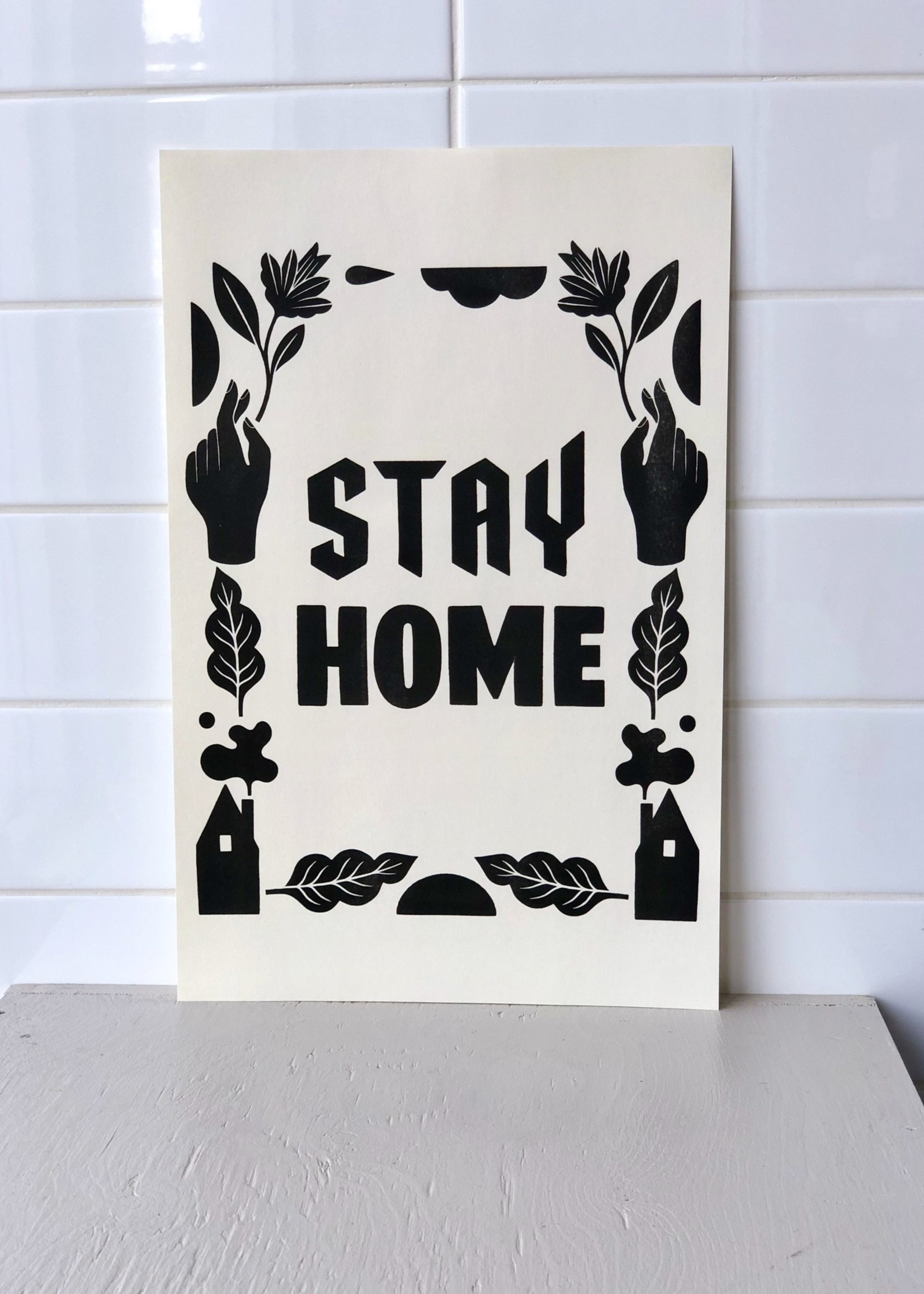 "Stay Home Club ""Stay Home Club"" affiches risographe -28cm x 43cm"