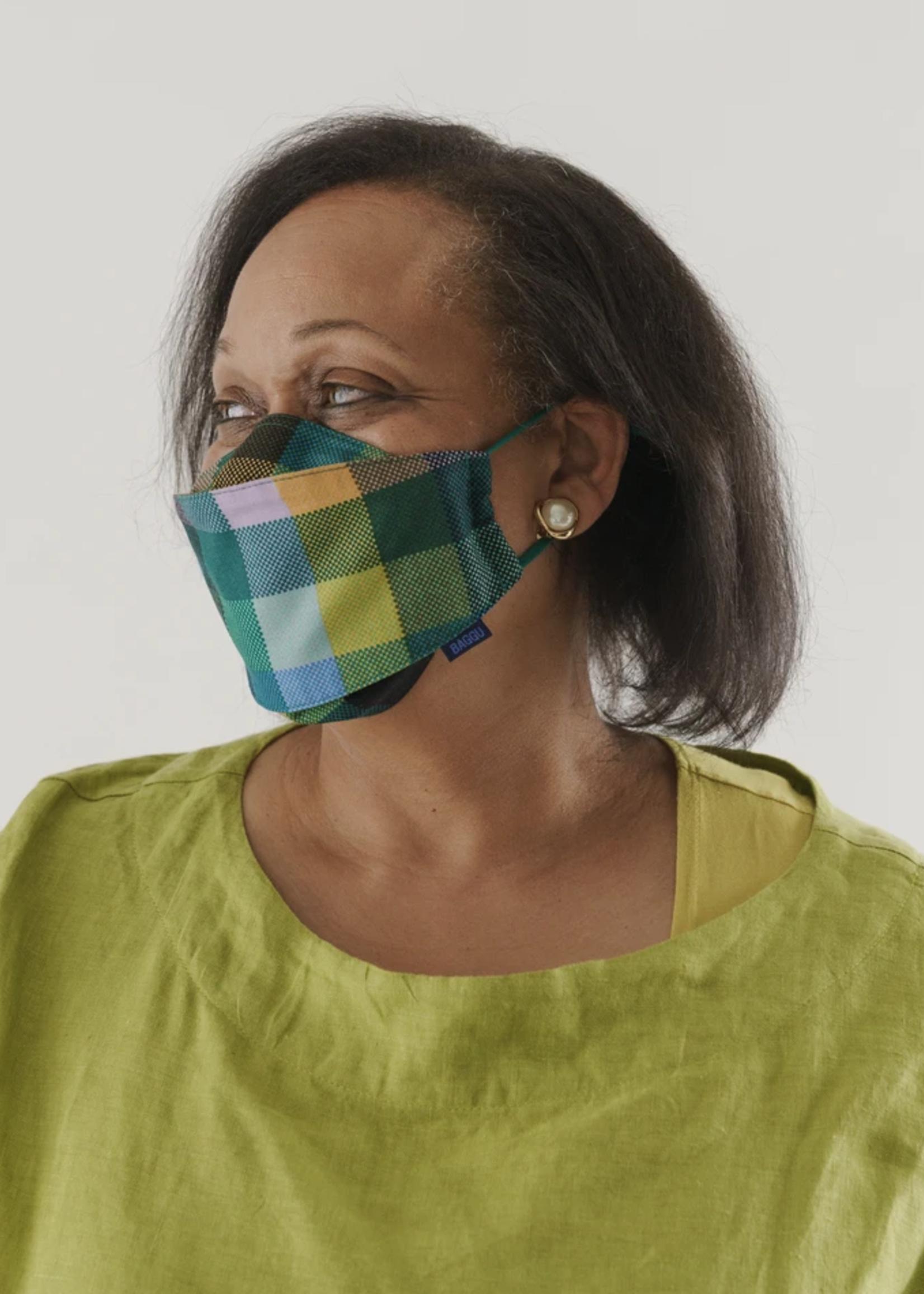 Baggu Madras Cotton Face Masks