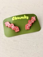 "Chunks Paquet de barrettes ""DON'T TOUCH"""