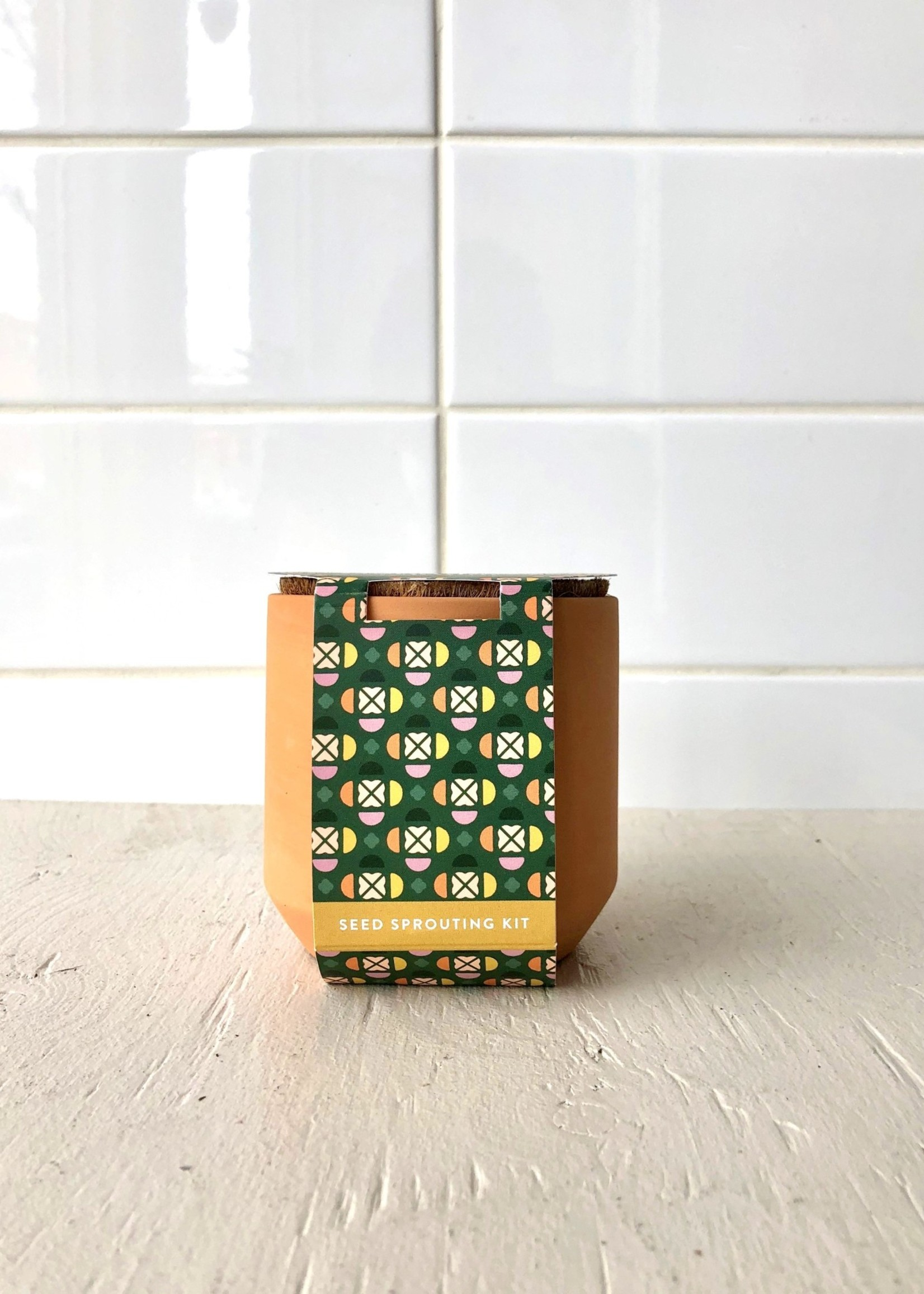 Modern Sprout Mini kits de jardin en terracotta